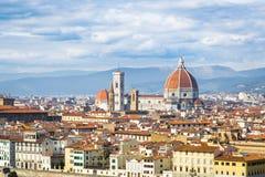 佛罗伦萨,意大利,托斯卡纳 在圆顶圣塔玛丽亚del F的看法 库存照片