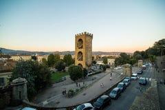 佛罗伦萨,意大利- 2017年10月 佛罗伦萨市看法从米开朗基罗广场的小山的 旅行目的地佛罗伦萨 免版税图库摄影