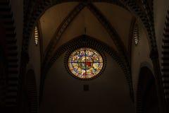 佛罗伦萨,意大利- 2017年9月08日:圣玛丽亚中篇小说教会  内部和圣玛丽亚中篇小说建筑细节  图库摄影