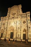 佛罗伦萨,意大利- 2017年9月03日:美丽的主教座堂广场大教堂广场大教堂夜 免版税库存图片