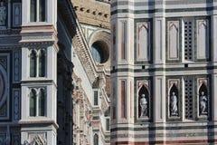 佛罗伦萨,意大利- 2015年11月:三塔Croce大教堂,世界遗产细节  免版税库存照片