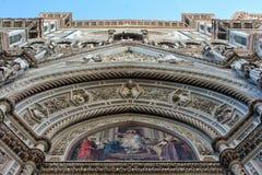 佛罗伦萨,意大利- 2015年11月:圣玛丽亚的细节在菲奥雷大教堂 库存图片