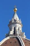 佛罗伦萨,意大利- 2015年11月:Brunelleschi圆顶,细节,三塔Croce大教堂 免版税库存照片