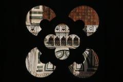 佛罗伦萨,意大利- 2015年11月:Giotto钟楼窗口 免版税库存图片