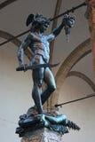 佛罗伦萨,意大利- 2015年11月:Perseus本韦努托・切利尼,古铜色雕象 库存照片