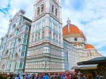 佛罗伦萨,意大利- 2014年5月01日:圣玛丽亚del菲奥雷大教堂在佛罗伦萨,意大利 免版税库存照片