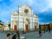 佛罗伦萨,意大利- 2014年5月01日:大教堂二三塔Croce -佛罗伦萨的,意大利著名方济会教会 免版税库存图片