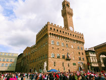 佛罗伦萨,意大利- 2014年5月01日:Palazzo Vecchio是城镇厅 免版税库存图片