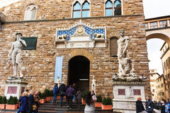 佛罗伦萨,意大利- 2017年2月06日-大卫雕象Michelangel 库存照片