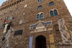 佛罗伦萨,意大利- 5月25 :大卫雕象广场della的Signoria米开朗基罗 库存图片