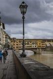 佛罗伦萨,意大利- 3月07 :桥梁Ponte Vecchio在佛罗伦萨,它 免版税库存照片