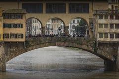 佛罗伦萨,意大利- 3月07 :桥梁Ponte Vecchio在佛罗伦萨,它 免版税库存图片