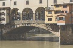 佛罗伦萨,意大利- 3月07 :桥梁Ponte Vecchio在佛罗伦萨 免版税库存图片