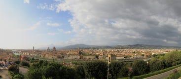 佛罗伦萨,托斯卡纳,意大利全景  库存图片