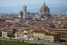 佛罗伦萨,托斯卡纳,意大利全景  免版税库存照片