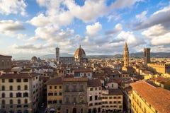 佛罗伦萨,托斯卡纳,意大利城市视图  库存照片