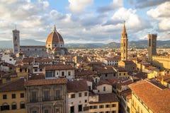 佛罗伦萨,托斯卡纳,意大利城市视图  免版税库存图片