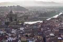 佛罗伦萨,托斯卡纳,意大利城市视图  库存图片