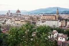 佛罗伦萨,托斯卡纳,意大利美好的都市风景  库存图片