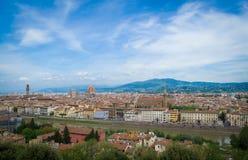 佛罗伦萨,托斯卡纳,意大利视图  免版税库存图片