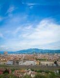 佛罗伦萨,托斯卡纳,意大利视图  库存照片