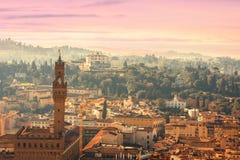 佛罗伦萨,托斯卡纳,意大利鸟景色  从大教堂圣诞老人的看法 库存照片