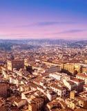 佛罗伦萨,托斯卡纳,意大利鸟瞰图  从大教堂圣的看法 免版税库存图片