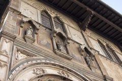 佛罗伦萨 城市克里姆林宫横向晚上被反射的河 兴趣吸引力地方  免版税库存图片
