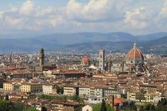 佛罗伦萨-城市的看法从Piazzale米开朗基罗的 图库摄影