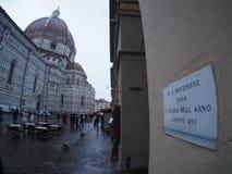 佛罗伦萨1966年11月4日 库存图片