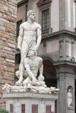 佛罗伦萨-赫拉克勒斯和Cacus由佛罗伦丁的艺术家Baccio Ba 免版税库存照片