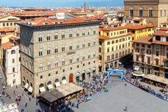 佛罗伦萨 顶视图 库存图片