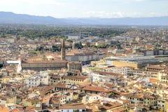 佛罗伦萨 从高度的看法鸟飞行 库存图片