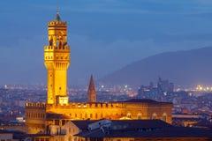 佛罗伦萨 Palazzo Vecchio 免版税图库摄影