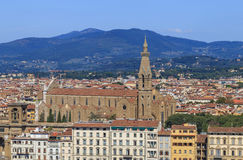 佛罗伦萨` s历史的中心看法  库存图片