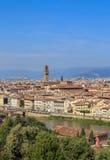 佛罗伦萨` s历史的中心,垂直的框架看法  免版税库存照片