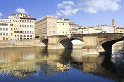 佛罗伦萨ponte圣诞老人trinita 免版税库存图片