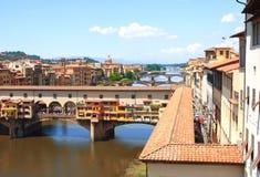 佛罗伦萨ponte vecchio视图 免版税库存图片