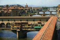 佛罗伦萨ponte vecchio视图 免版税图库摄影