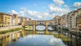 佛罗伦萨Pontevecchio桥梁 库存图片