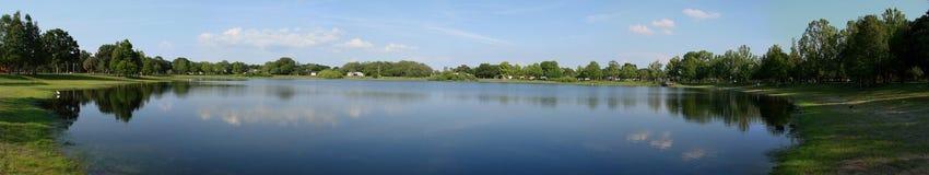 佛罗里达全景池塘 免版税库存照片