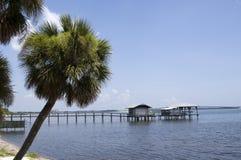 佛罗里达印第安墨尔本河 库存照片