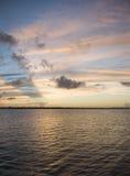 佛罗里达印第安河日落 免版税库存图片