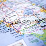 佛罗里达地图 库存图片