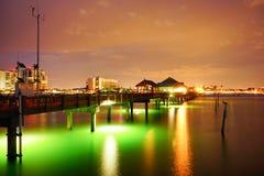 佛罗里达坦帕湾海滩码头 库存图片