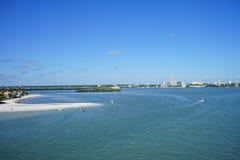 佛罗里达坦帕湾海滩 免版税库存图片