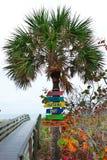 佛罗里达墨西哥湾海岸标志 免版税库存图片