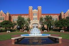佛罗里达州立大学喷泉 库存照片