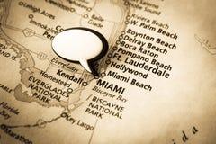 佛罗里达映射迈阿密 免版税库存照片