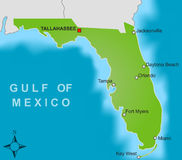佛罗里达映射 库存图片